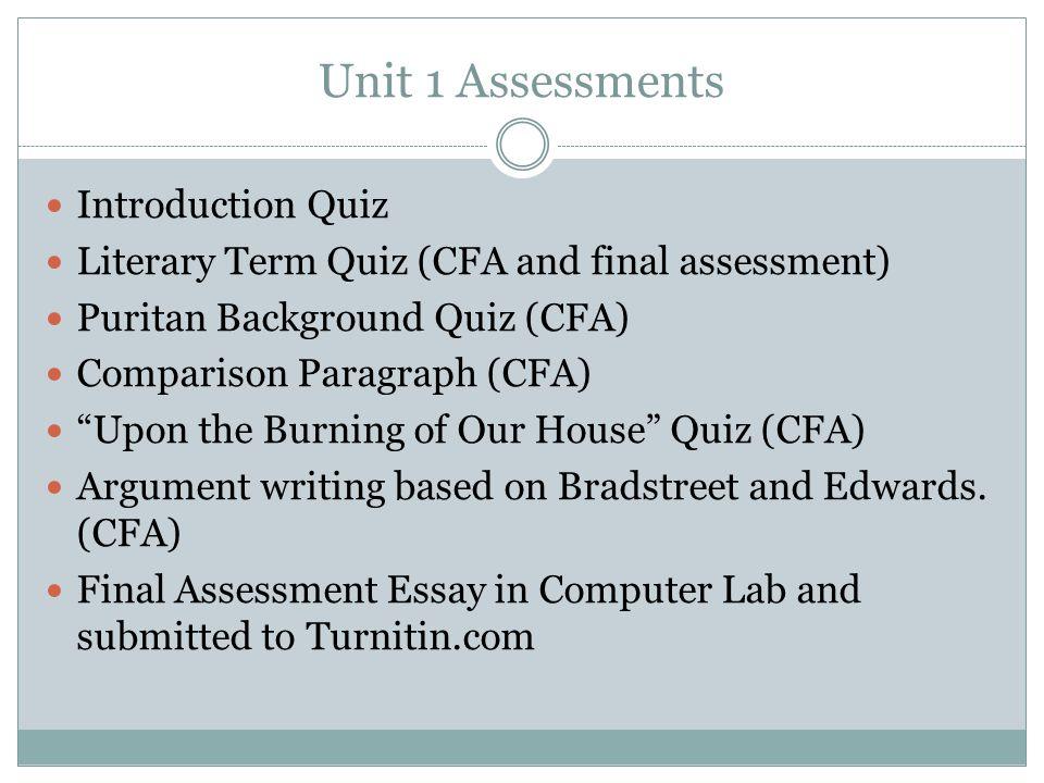 Unit 1 Assessments Introduction Quiz