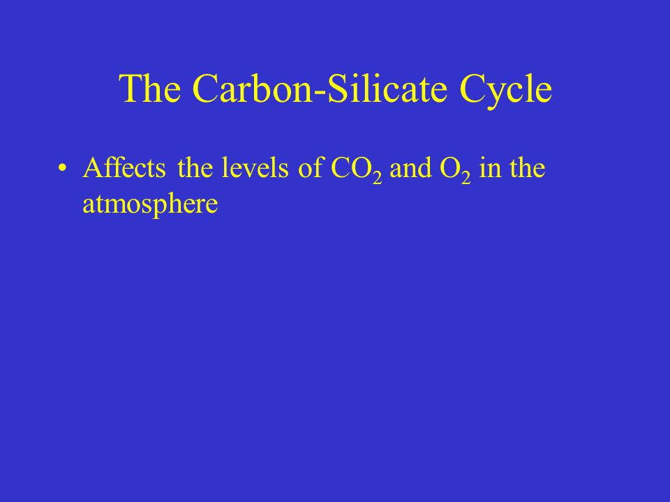 The Carbon-Silicate Cycle