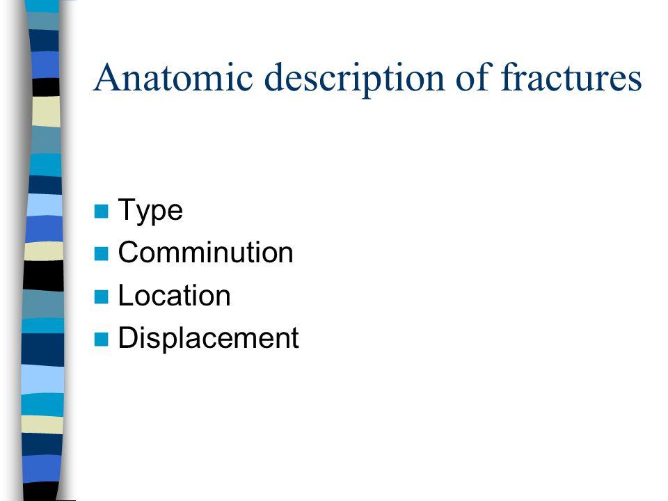 Anatomic description of fractures