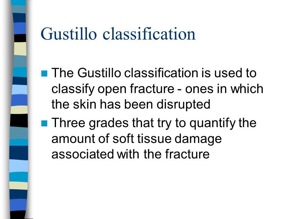Gustillo classification