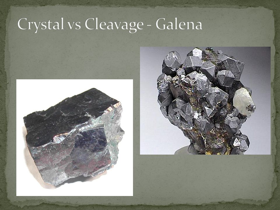 Crystal vs Cleavage - Galena