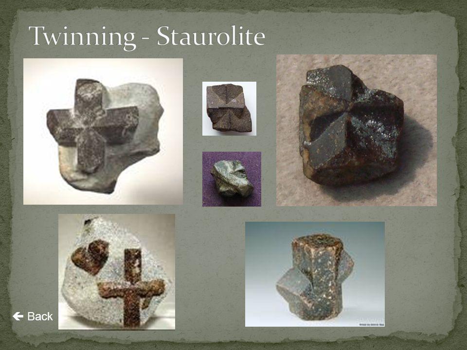 Twinning - Staurolite  Back