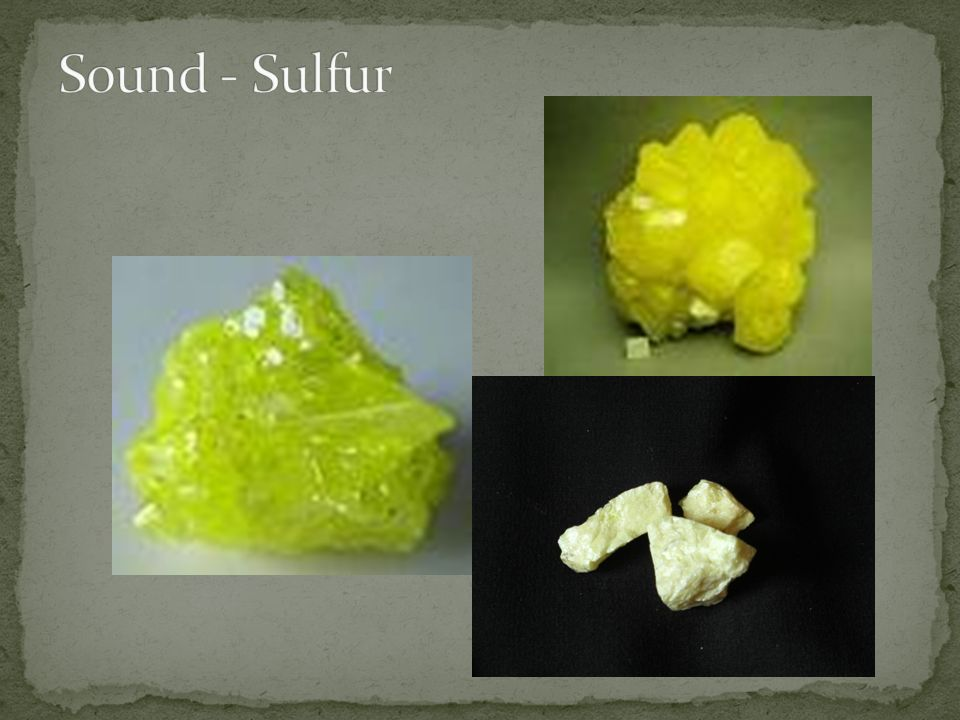 Sound - Sulfur