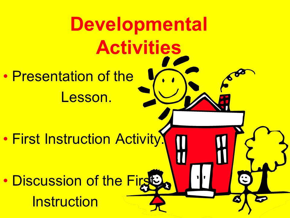 Developmental Activities