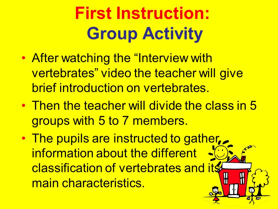 First Instruction: Group Activity