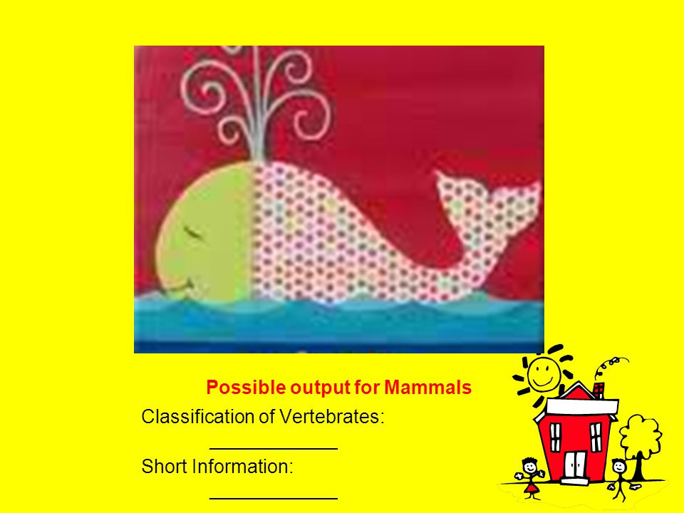 Possible output for Mammals