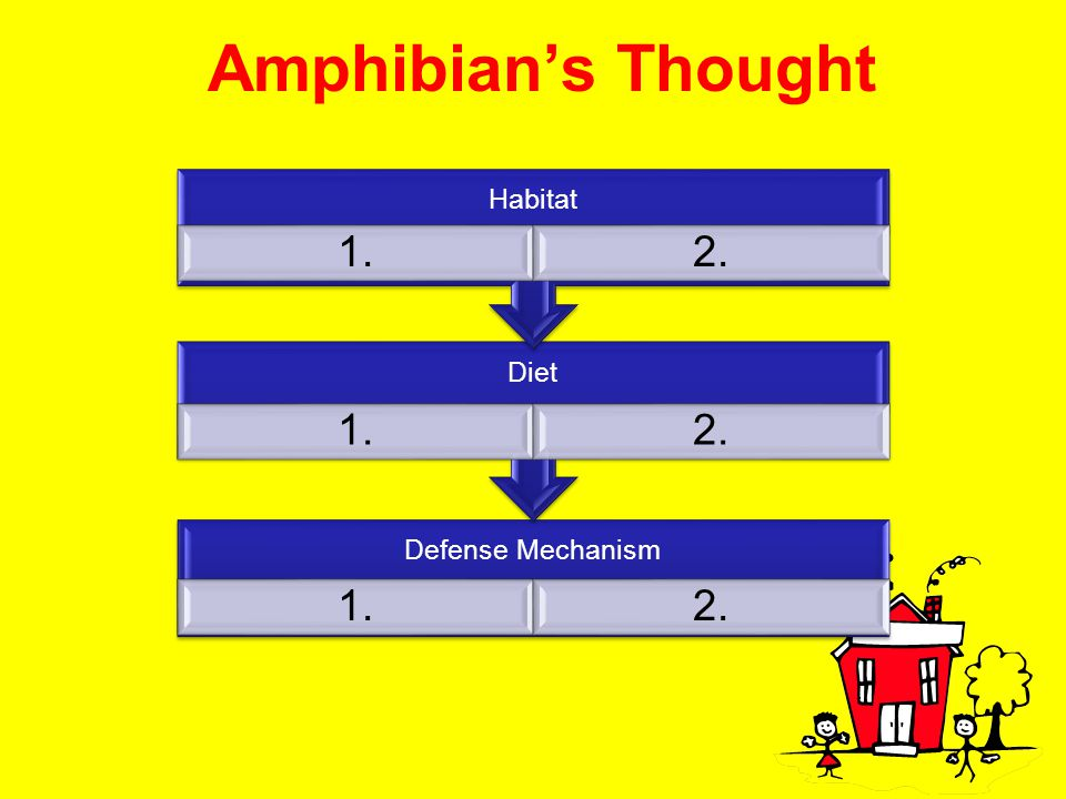 Amphibian's Thought Habitat 1. 2. Diet Defense Mechanism