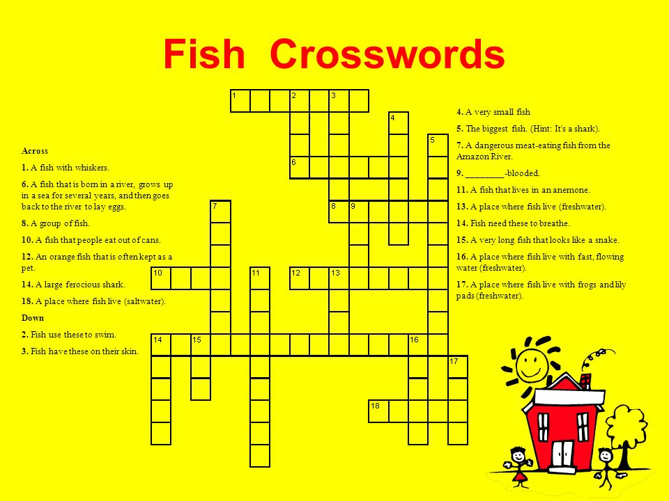 Fish Crosswords 4. A very small fish