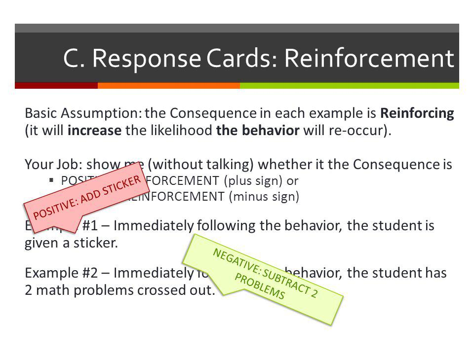 C. Response Cards: Reinforcement