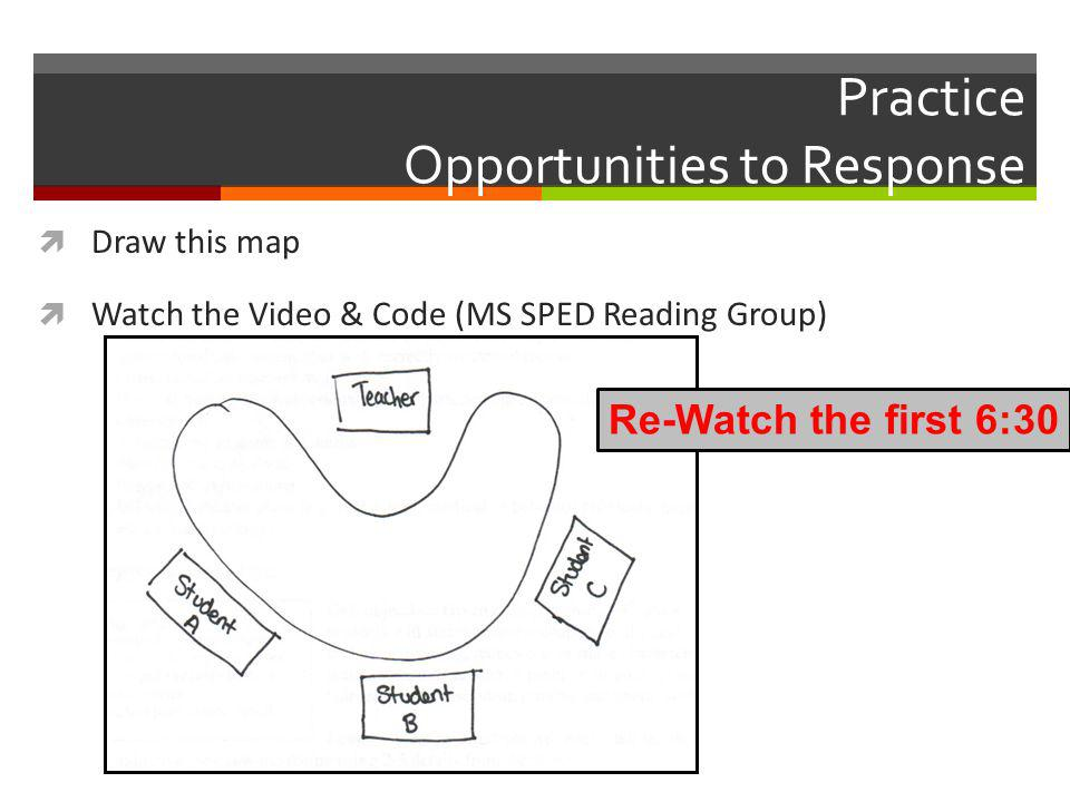 Practice Opportunities to Response