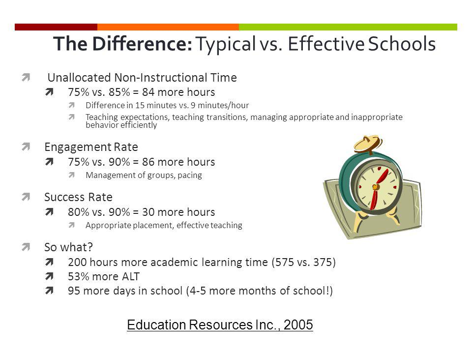 The Difference: Typical vs. Effective Schools