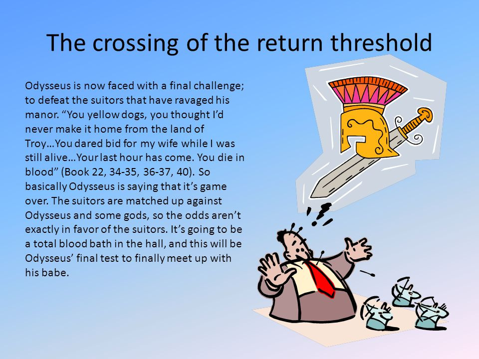The crossing of the return threshold
