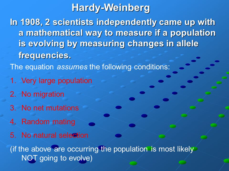 Hardy-Weinberg