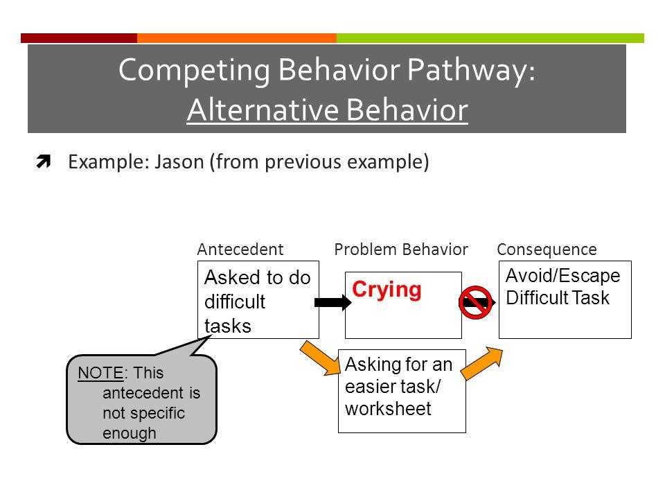 Competing Behavior Pathway: Alternative Behavior