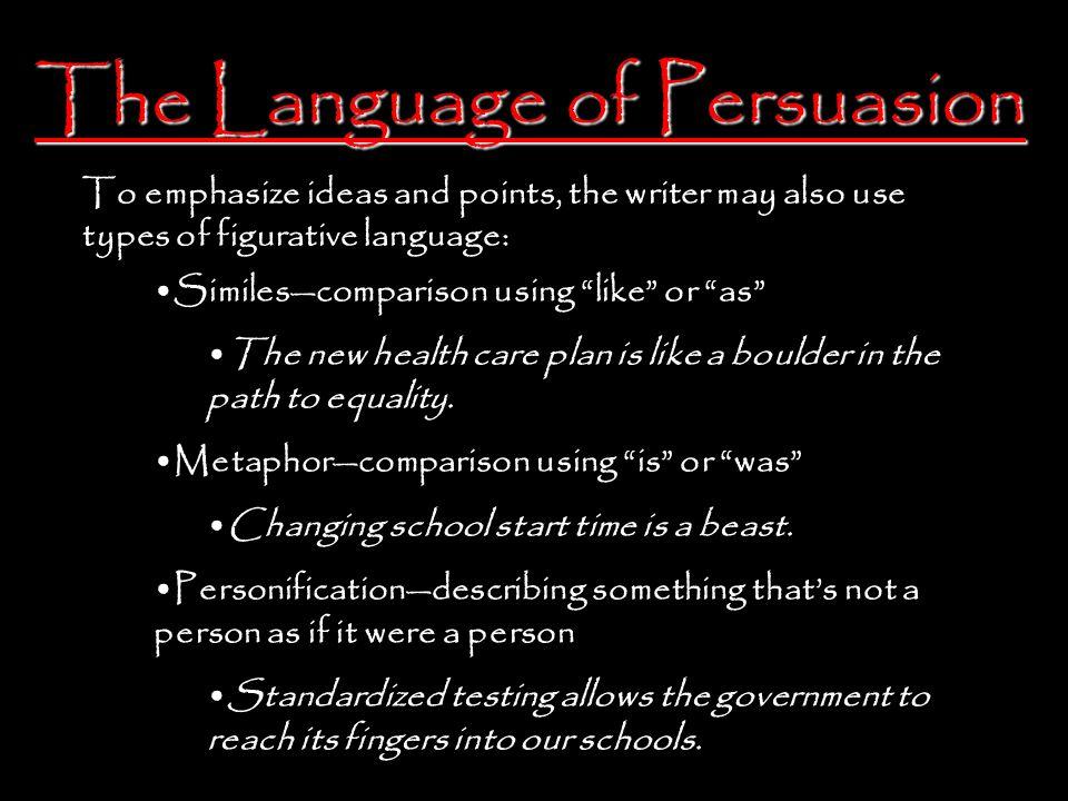 The Language of Persuasion