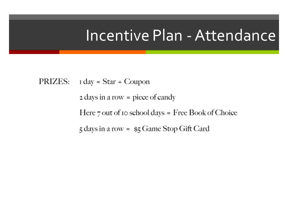Incentive Plan - Attendance