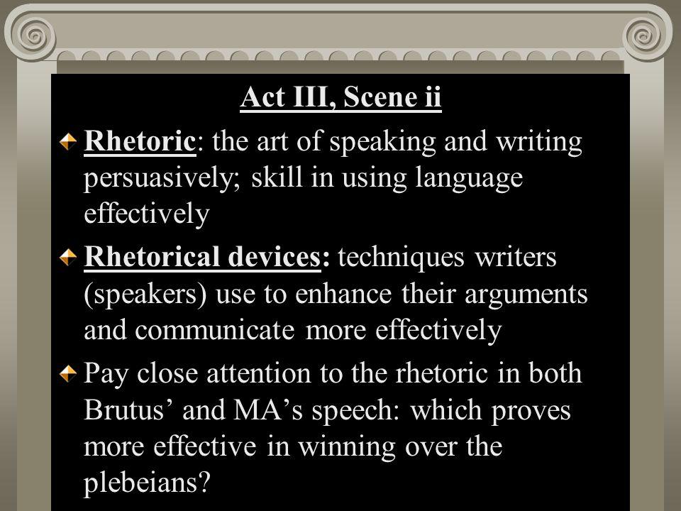 Act II, Scene i Act III, Scene ii