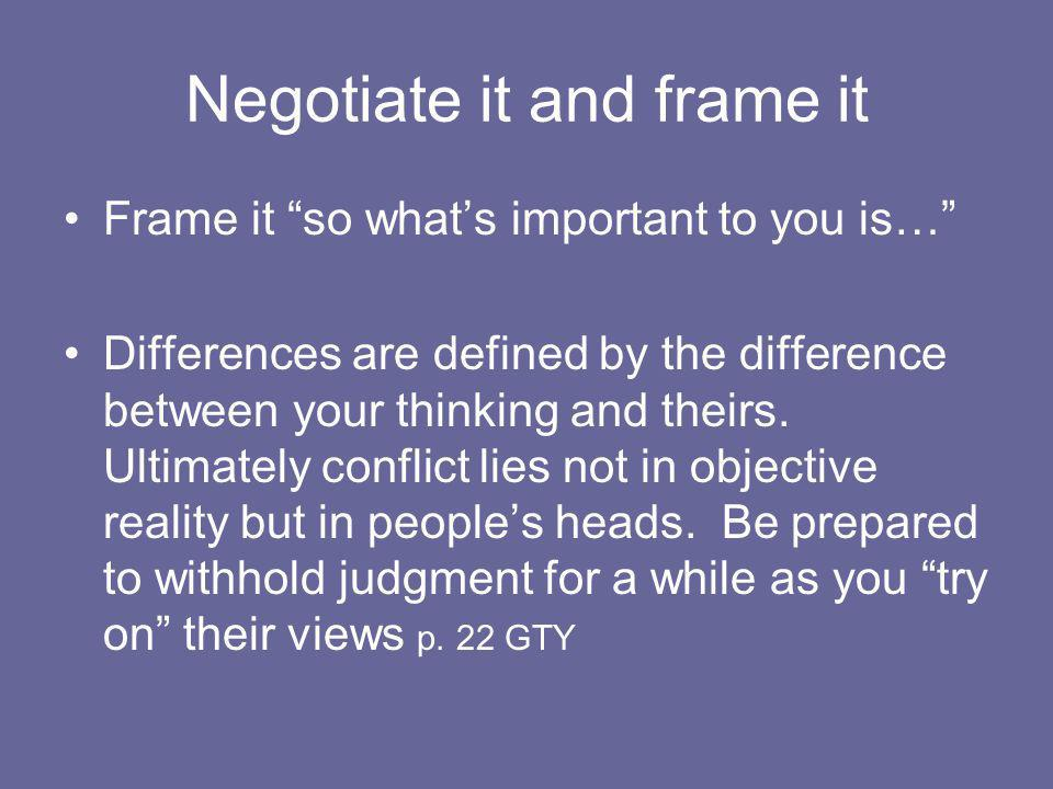 Negotiate it and frame it
