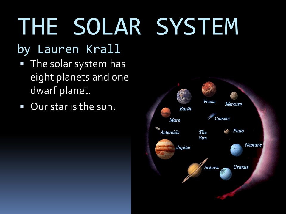THE SOLAR SYSTEM by Lauren Krall
