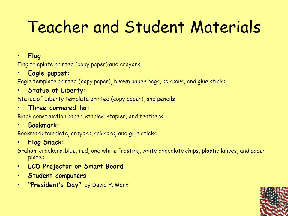 Teacher and Student Materials