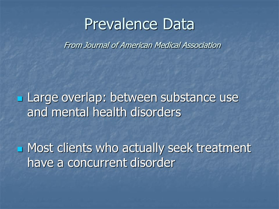 Prevalence Data From Journal of American Medical Association
