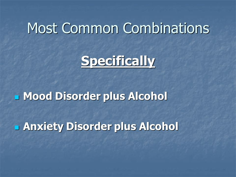 Most Common Combinations