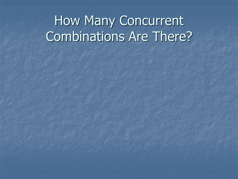 How Many Concurrent Combinations Are There