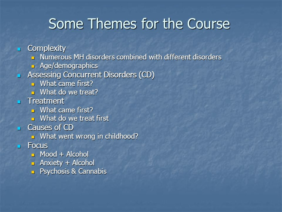 Some Themes for the Course