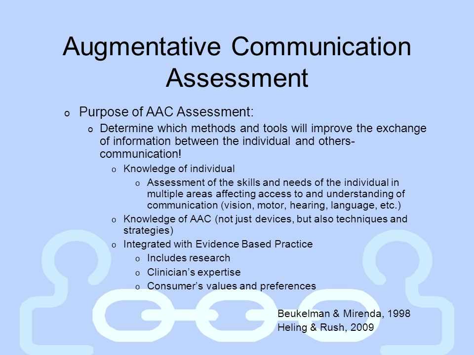 Augmentative Communication Assessment