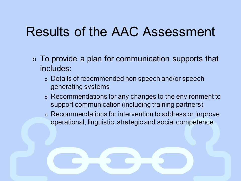 Results of the AAC Assessment