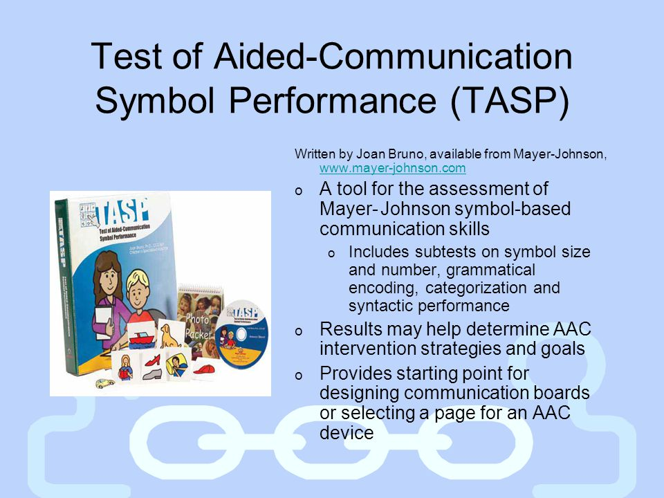 Test of Aided-Communication Symbol Performance (TASP)