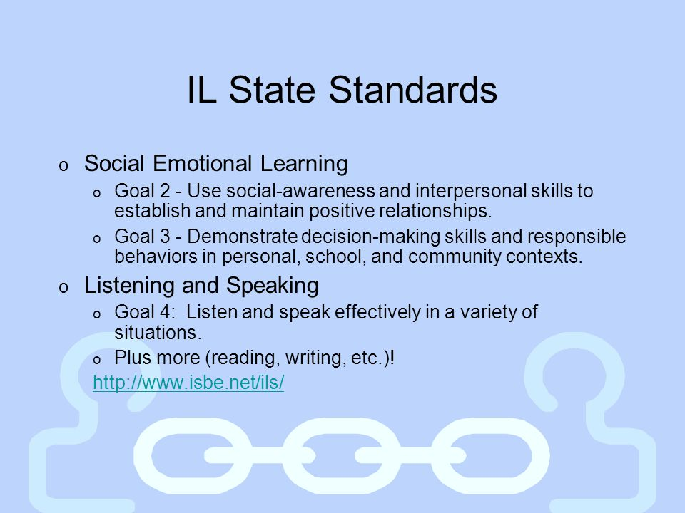 IL State Standards Social Emotional Learning Listening and Speaking