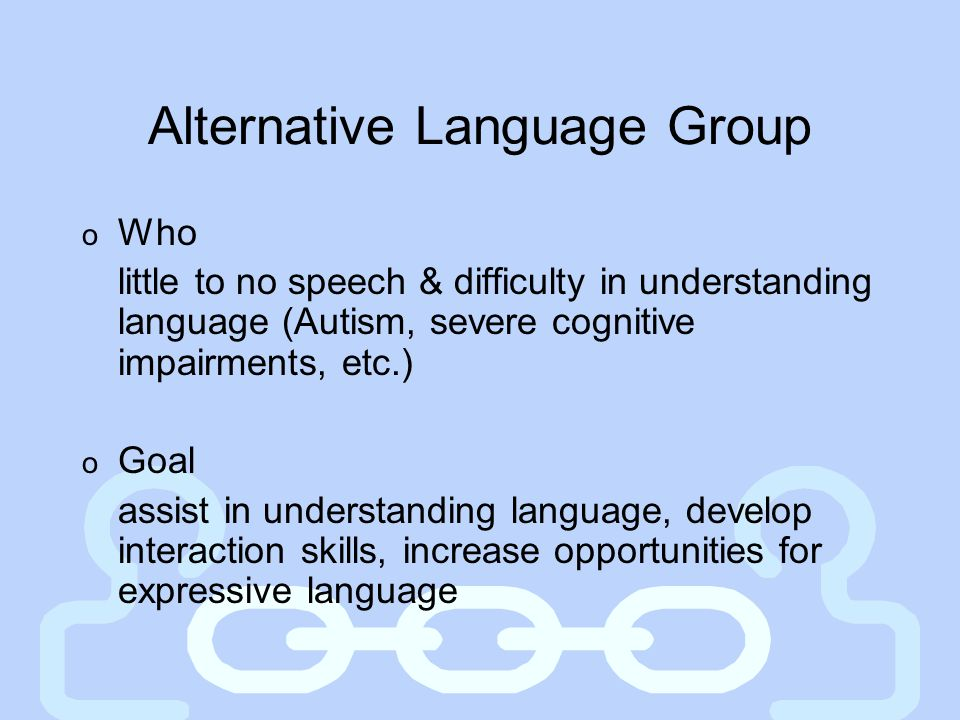 Alternative Language Group