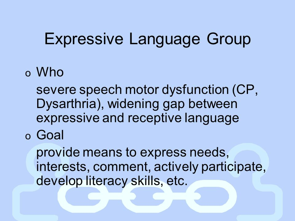 Expressive Language Group