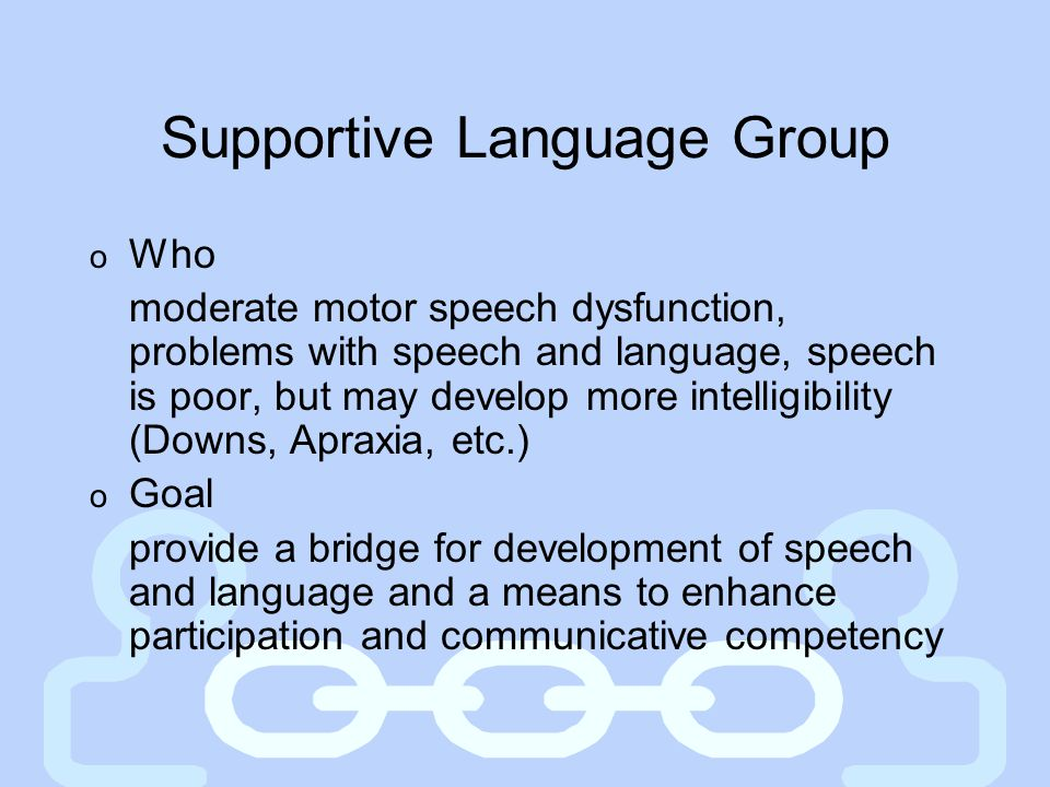 Supportive Language Group