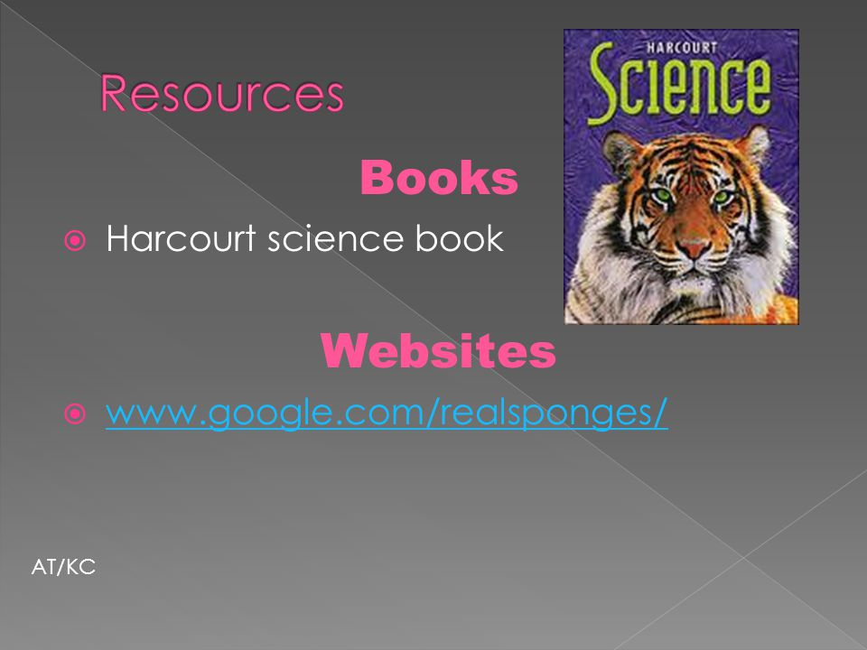 Resources Books Websites Harcourt science book