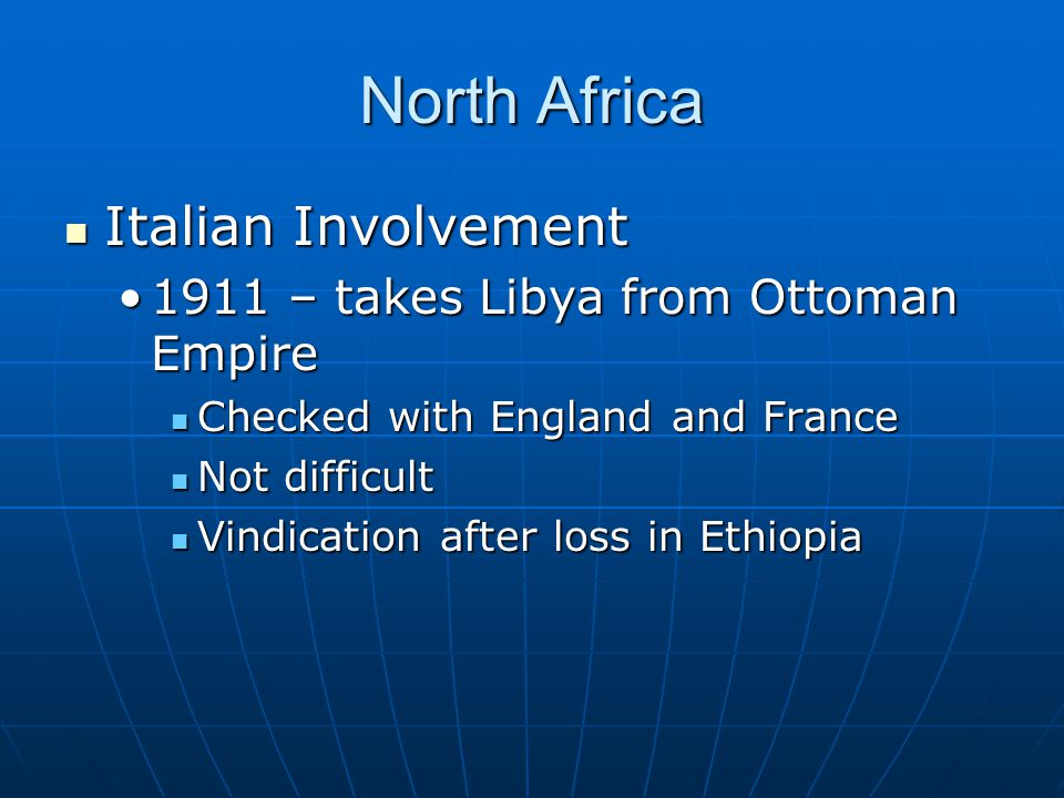 North Africa Italian Involvement
