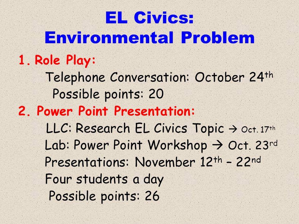 EL Civics: Environmental Problem