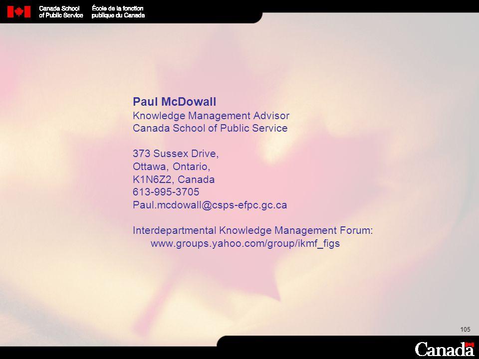 Paul McDowall Knowledge Management Advisor