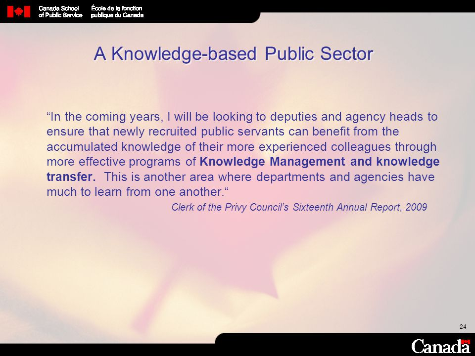 A Knowledge-based Public Sector