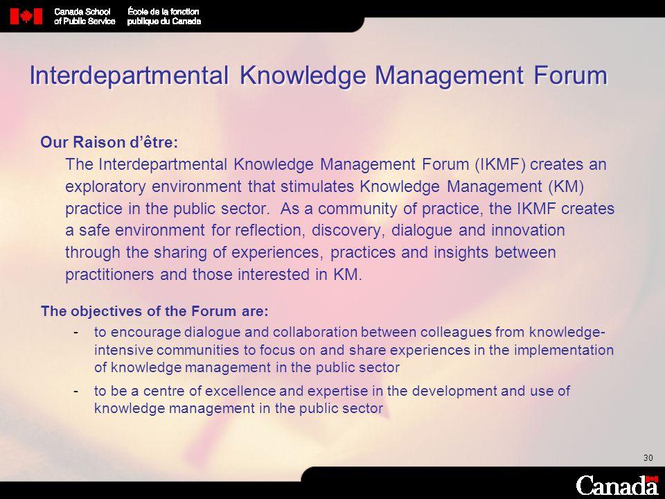Interdepartmental Knowledge Management Forum