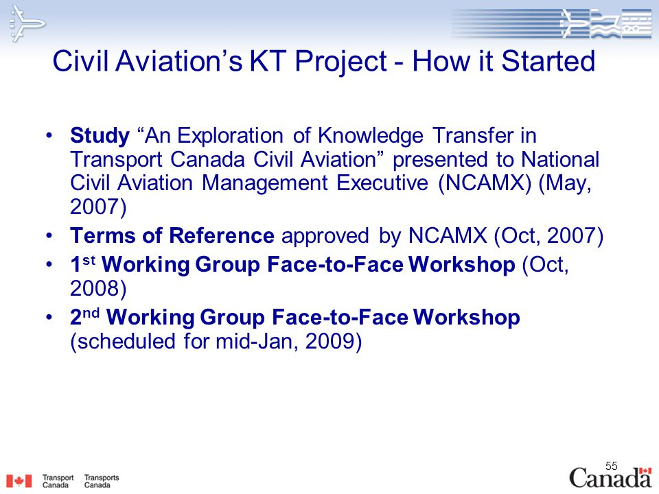 Civil Aviation's KT Project - How it Started