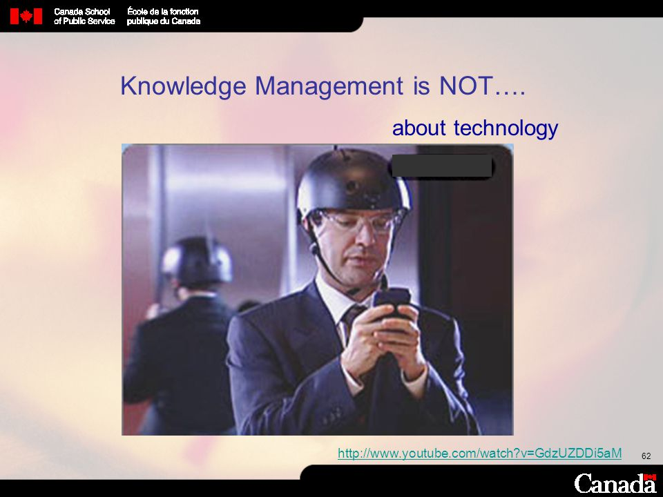 Knowledge Management is NOT….