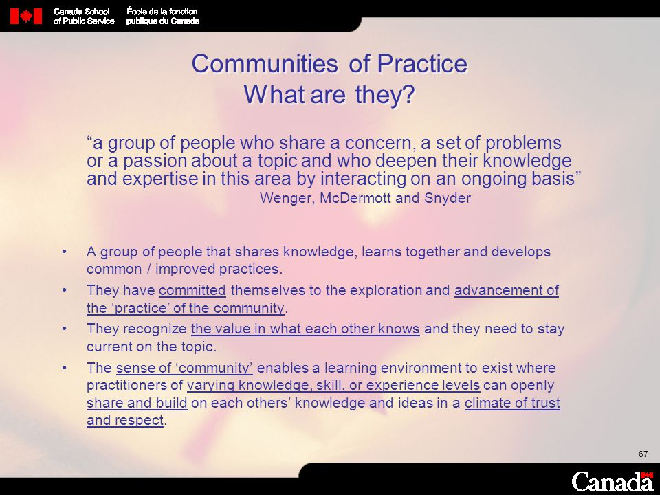 Communities of Practice What are they