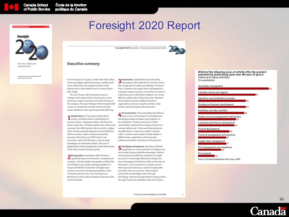 Foresight 2020 Report
