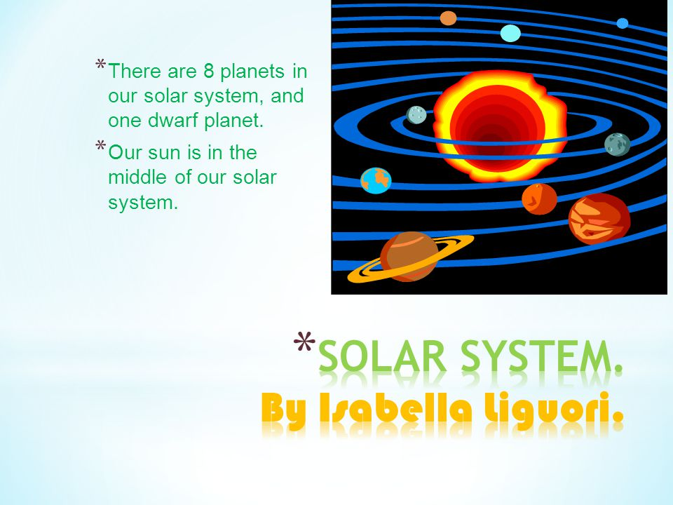SOLAR SYSTEM. By Isabella Liguori.