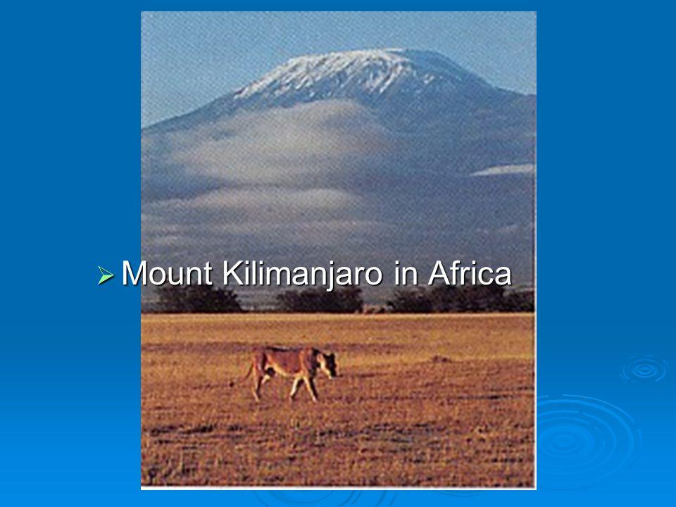 Mount Kilimanjaro in Africa