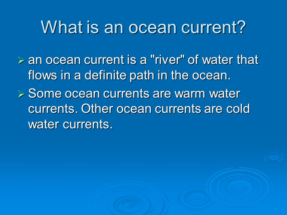 What is an ocean current