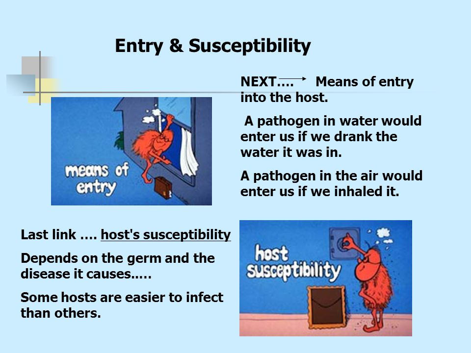 Entry & Susceptibility