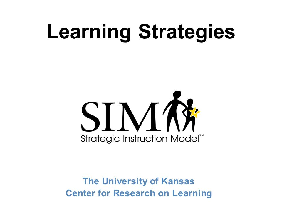The University of Kansas Center for Research on Learning